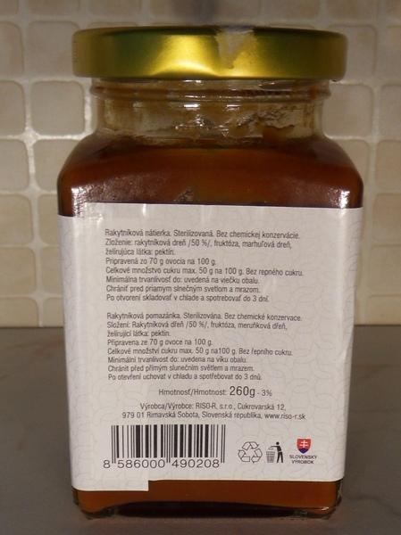 Rakytník - džem, RISO, VGJ, etiketa